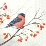 dreaming winter bird