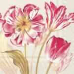 majestic tulips linen