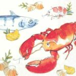 fish and lobster