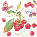 cherries and butterfly